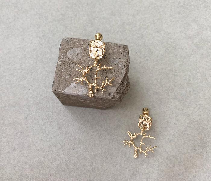 Eco安珂飾品,韓國耳環,耳夾式耳環,珊瑚耳環,海洋飾品,夏天耳環,夏天飾品,海洋耳環,垂墜耳環