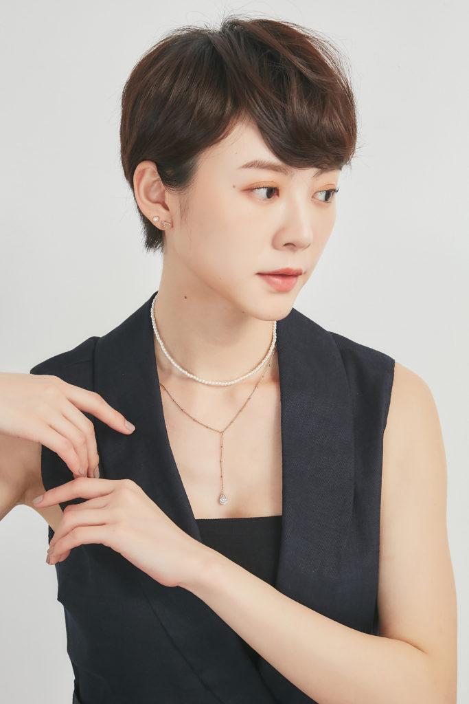 Eco安珂飾品,韓國飾品,韓國項鍊,韓國項鏈,鎖骨鍊,鎖骨項鍊,鎖骨項鏈,短項鍊,短項鏈,多圈項鍊,多層次項鍊,Y字鍊,珍珠項鍊