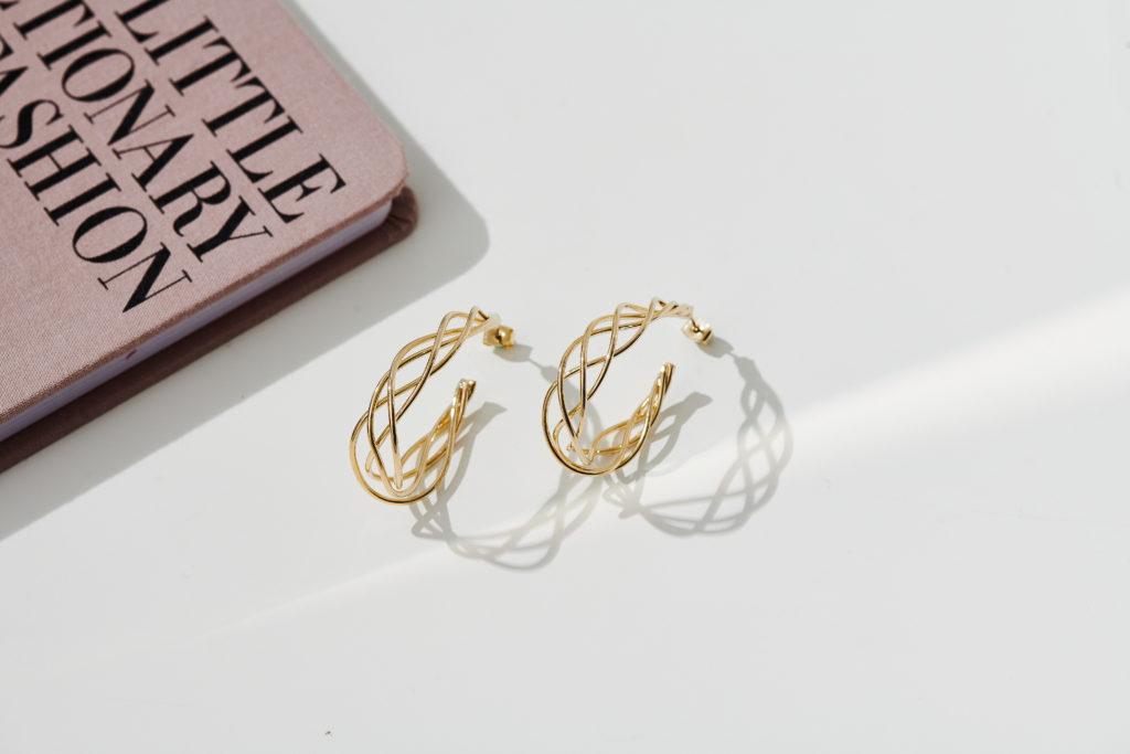 Eco安珂飾品,韓國耳環,耳針式耳環,圓圈耳環,圈圈耳環,C圈耳環,垂墜耳環,大耳環