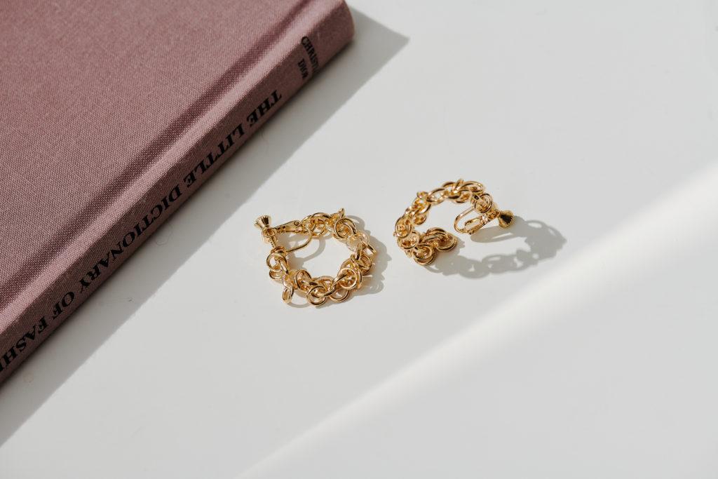 Eco安珂飾品,韓國耳環,夾式耳環,圓圈耳環,圈圈耳環,C圈耳環,C圈夾式耳環,鎖鏈耳環