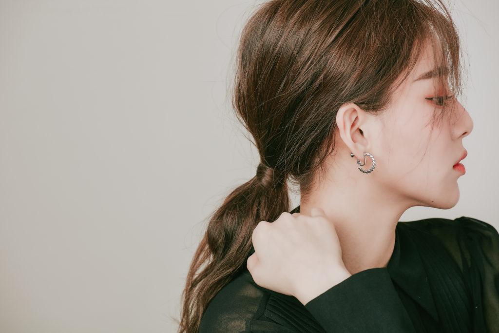 Eco安珂飾品,韓國耳環,夾式耳環,圓圈耳環,圈圈耳環,C圈耳環,C圈夾式耳環